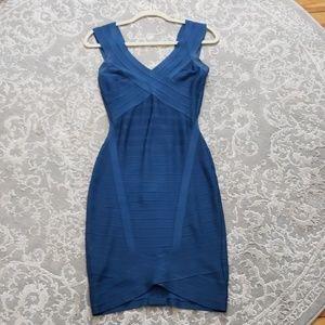 Herve Leger Nicolette Royal Blue Dress Sz S